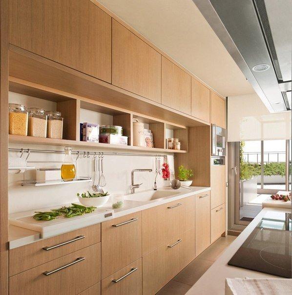 Современные кухни под дерево дизайн