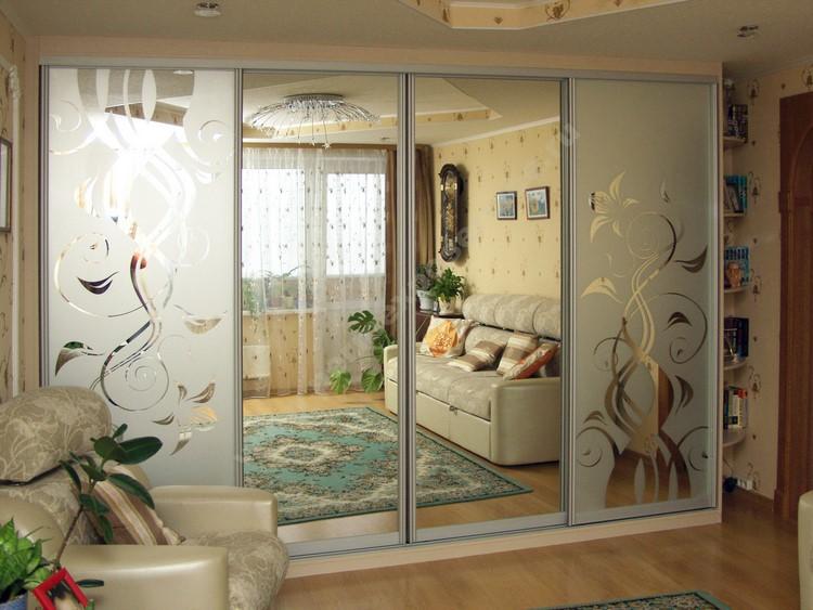 Фото дизайна шкафа-купе в гостинную комнату